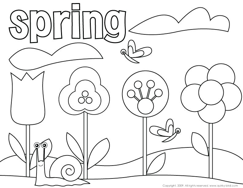 792x612 Spring Coloring Pages Free Printable