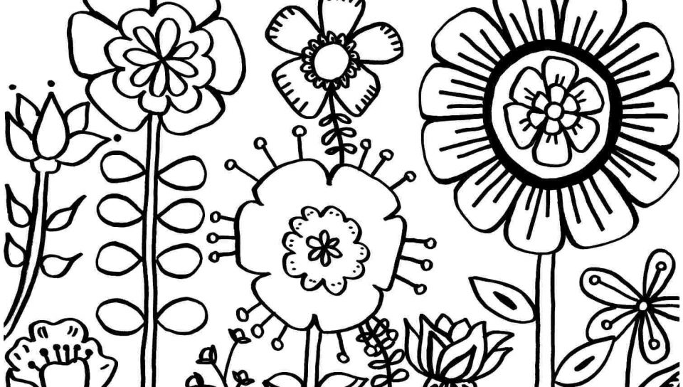 960x544 Free Spring Coloring Pagesntable For And Summer Sheetsntables