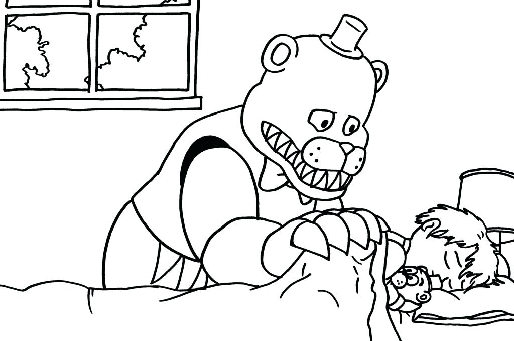1024x679 Fnaf Springtrap Coloring Pages For A H