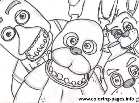 450x333 Fnaf Coloring Pages
