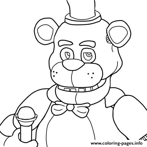 512x512 Fnaf Coloring Sheets Collection