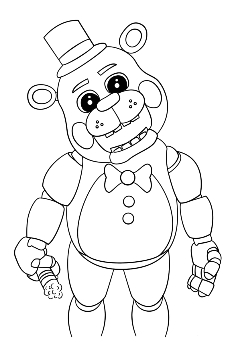 824x1186 Free Printable Five Nights At Freddy's Coloring Pages