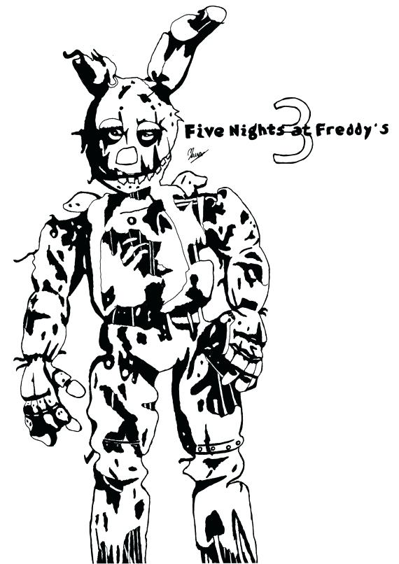 570x806 Coloring Pages Fnaf Coloring Pages Springtrap Coloring Pages
