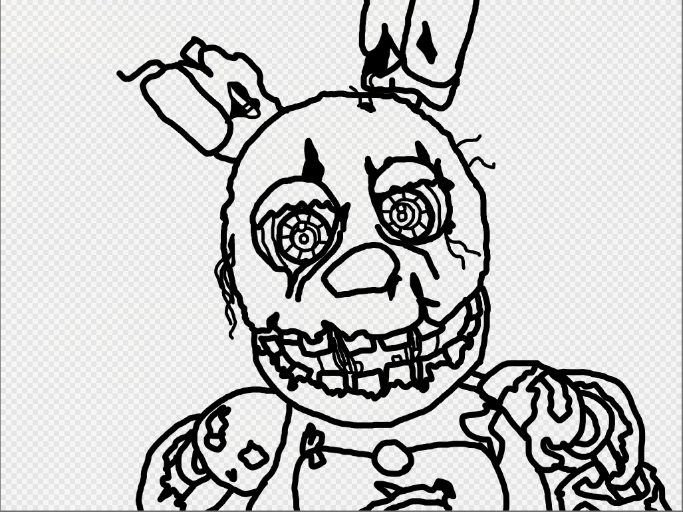 683x512 Spring Bonnie Coloring Pages Springtrap Coloring Page