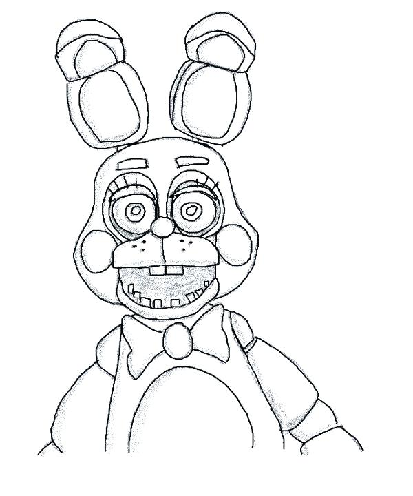 600x720 Fnaf Springtrap Coloring Pages