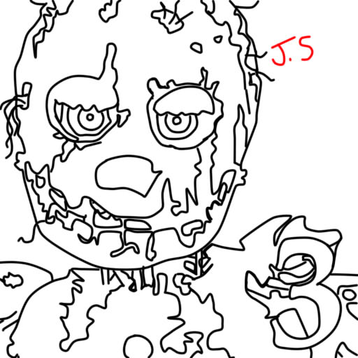 Springtrap Coloring Pages At Getdrawings Free Download