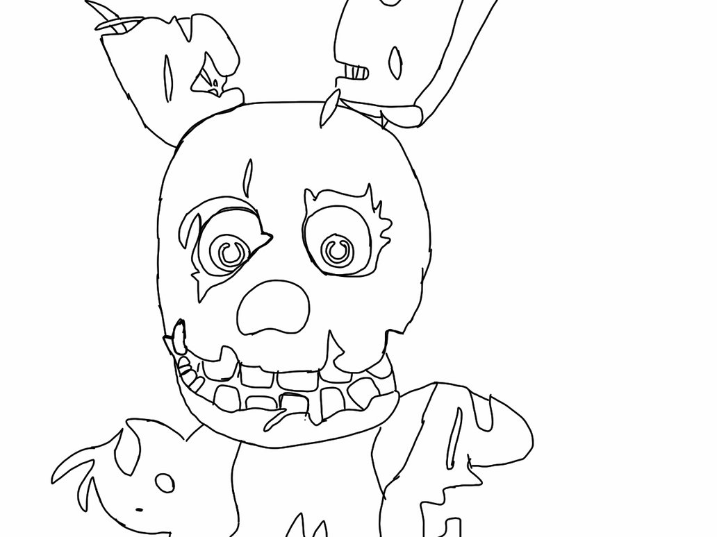 1032x774 Coloring Pages Springtrap Best Image Collection New Coloring Sheets