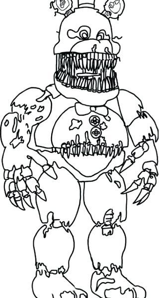 320x600 Five Nights At Freddys Coloring Sheets Five Nights At Printable