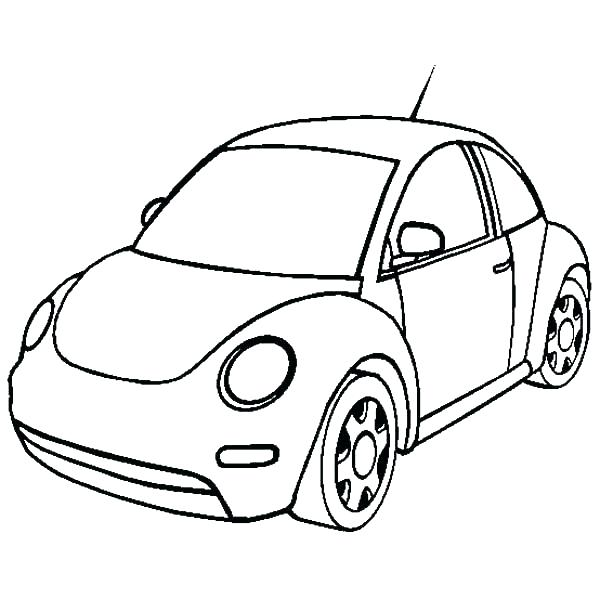 600x612 Free Sprint Car Coloring Pages Super Page For Kids New Beetle Best