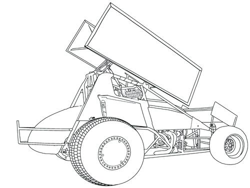 500x376 Sprint Car Coloring Pages Sprint Car Coloring Pages Race Car