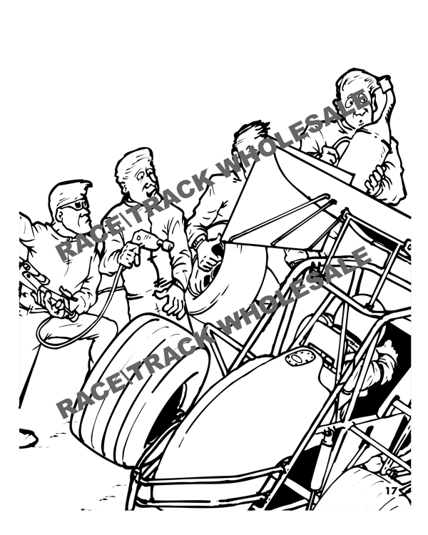 600x750 Sprint Car Lil Racer Coloring Book