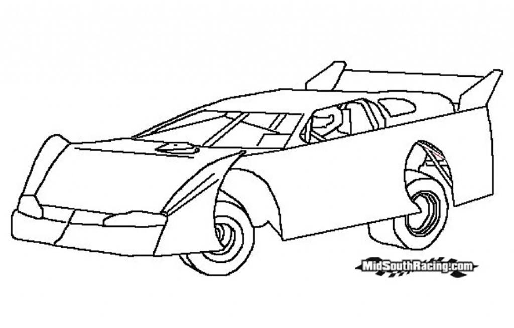 1024x654 Stock Car Coloring Pages Sprint Car Coloring Pages Funycoloring