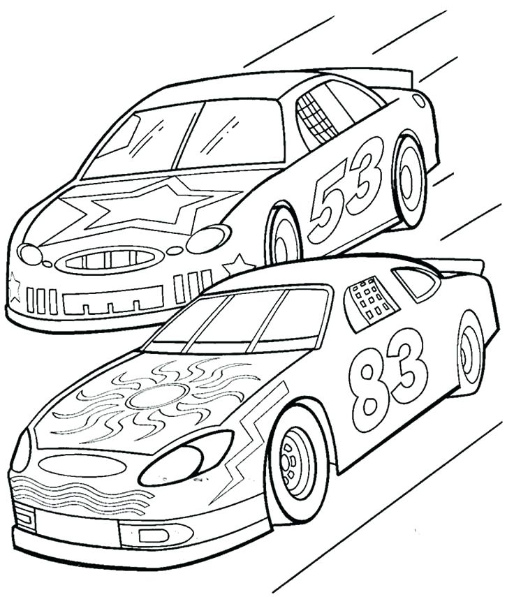 736x855 Coloring Pages Race Cars