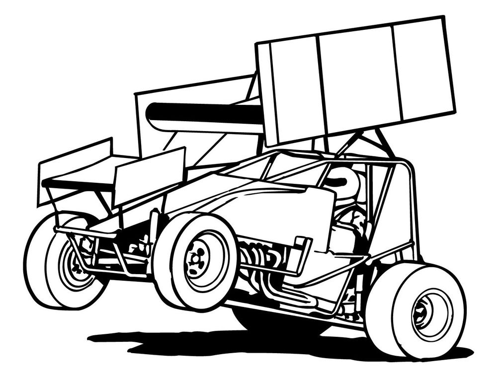1000x771 Sprint Car Clipart