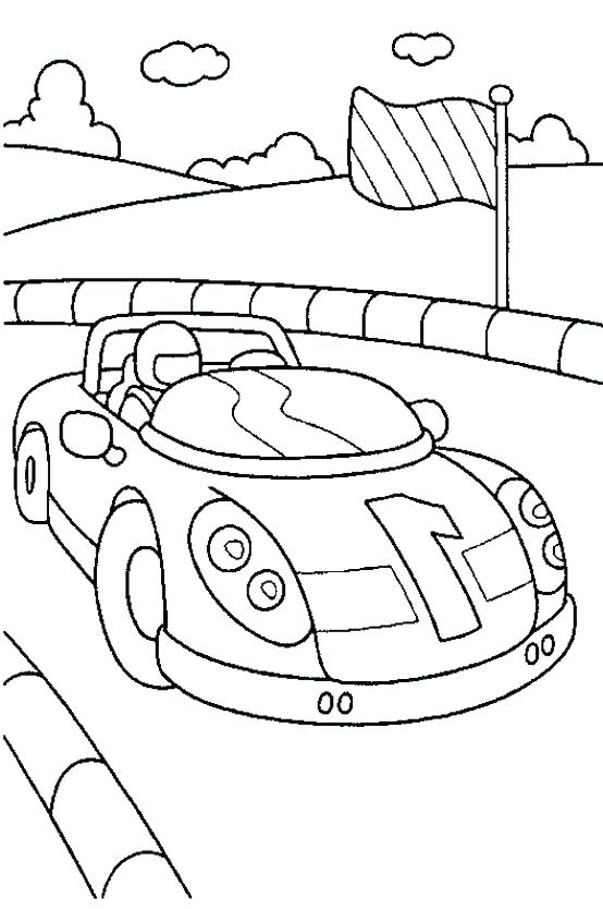 554x834 Coloring Pages Race Car Sprint Car Coloring Pages Classic Car