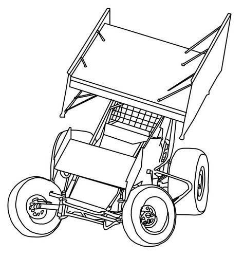 473x500 Extraordinary Idea Sprint Car Coloring Pages Best Racing Images