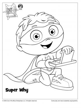 280x373 Super Why Coloring Page Super Why Coloring Pages For Kids