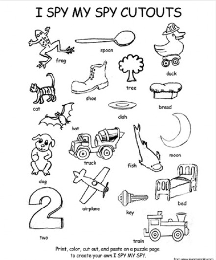 441x530 I Spy My Spy Coloring Page And Cutouts Parents