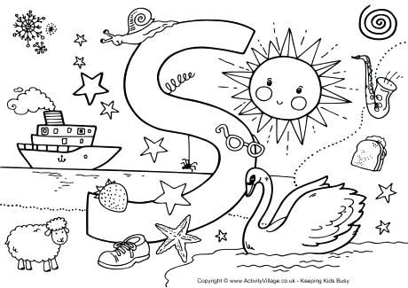 460x325 S Coloring Pages I Spy Alphabet Colouring Page S Coloring Pages