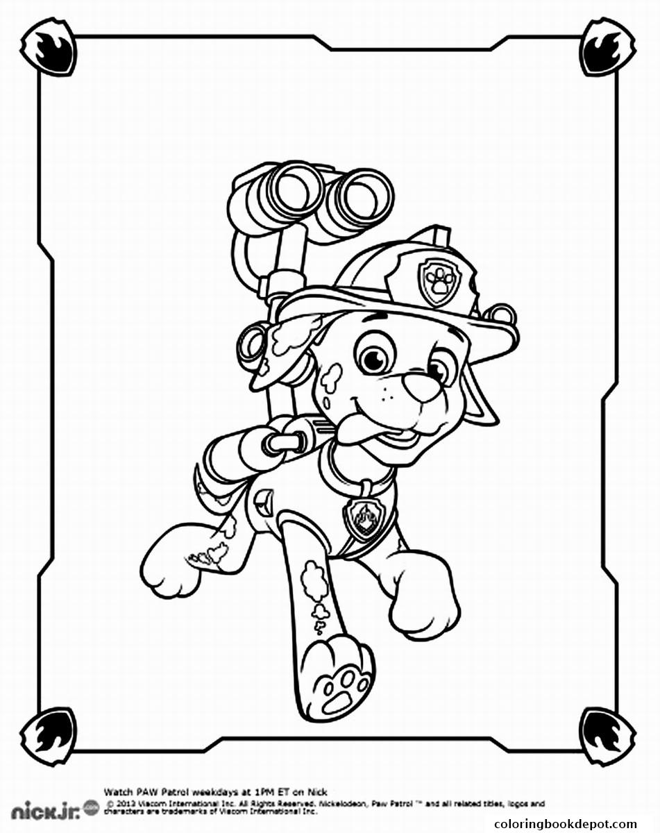 951x1200 paw patrol marshall spy coloring pages