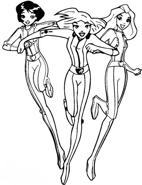 500x650 Totally Spies Coloring Pages Online Anime Totally
