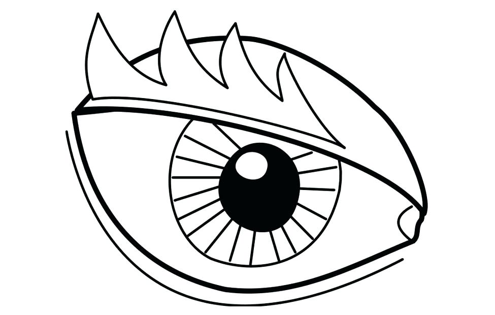 975x620 Eyeball Coloring Page