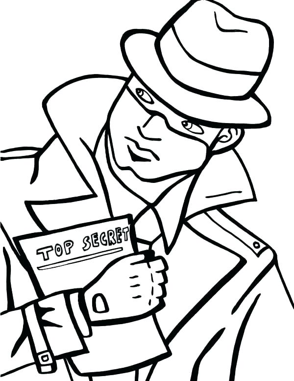 600x777 Spy Kids Coloring Pages Spy Coloring Page Spy Kids Best Coloring