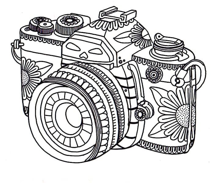 697x600 The Coolest Free Coloring Pages For Adults