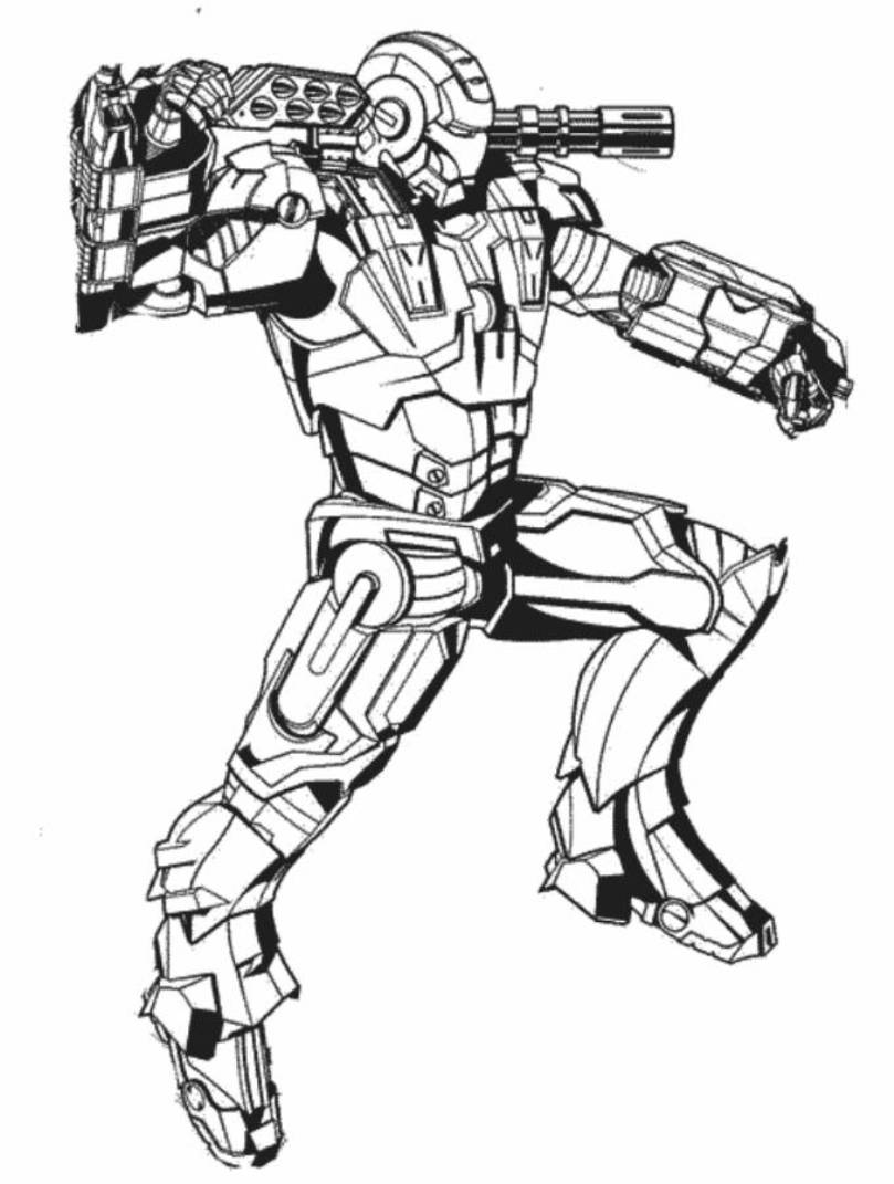 809x1071 War Machine Coloring Pages