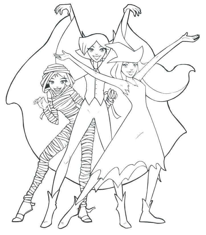 723x826 Spy Coloring Page Spy Kids Coloring Pages Totally Spies Coloring