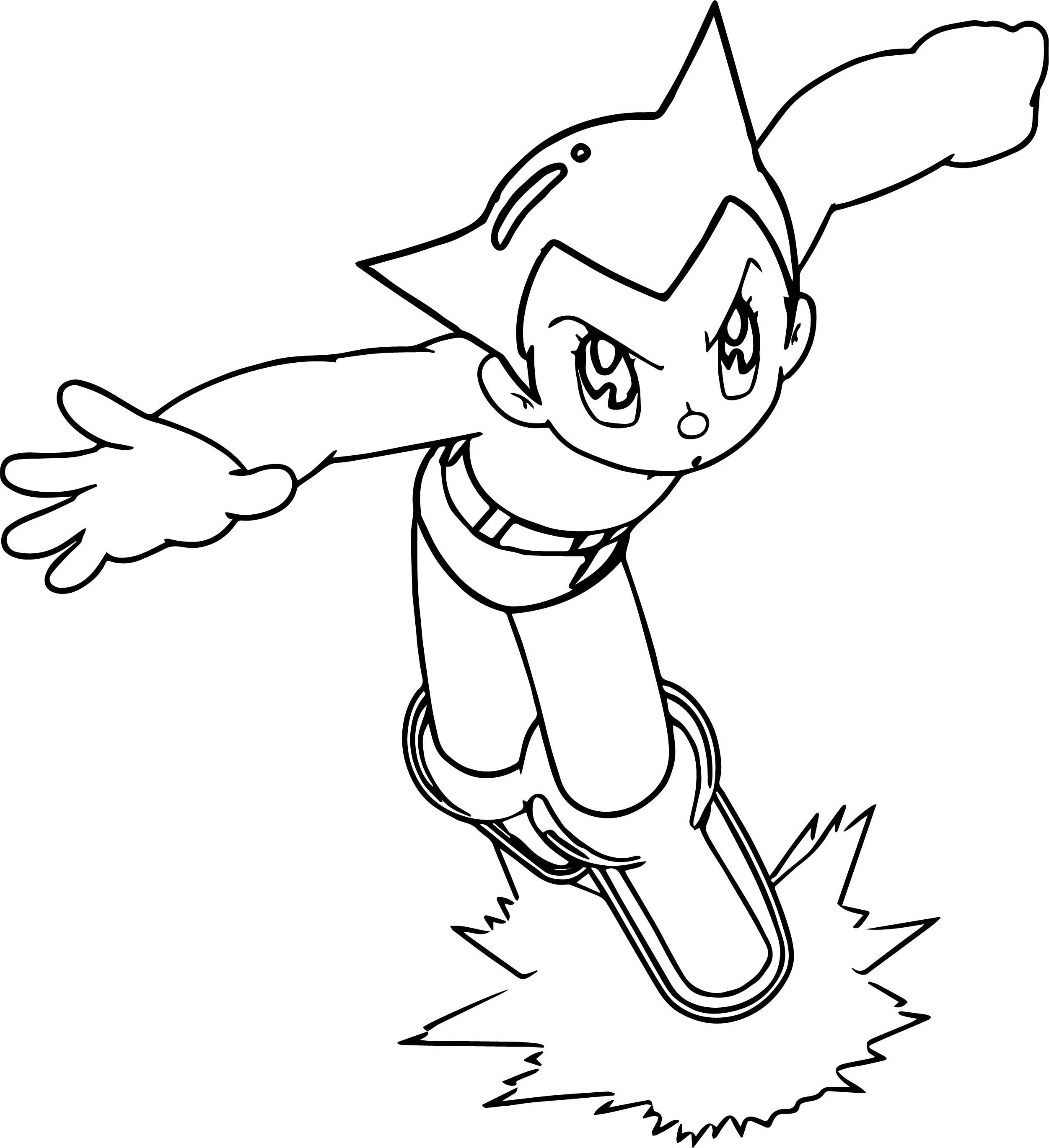 2503x2741 Astro Boy Image Coloring Page