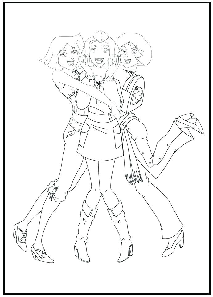 691x960 Spy Kids Coloring Pages Spy Kids Coloring Pages Totally Spies