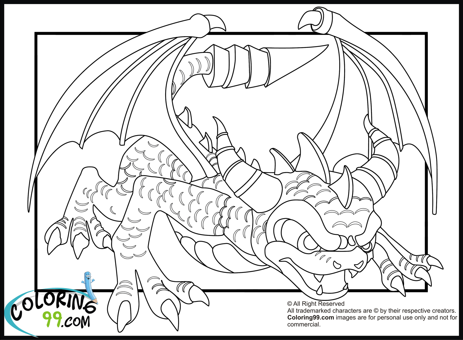 1500x1100 Skylanders Dragons Coloring Pages Minister Coloring