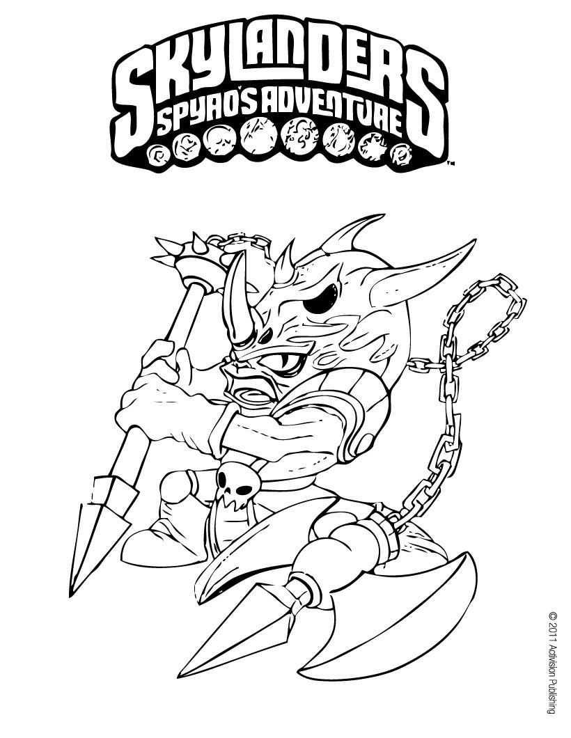 820x1060 Skylanders Spyro's Adventure Coloring Pages