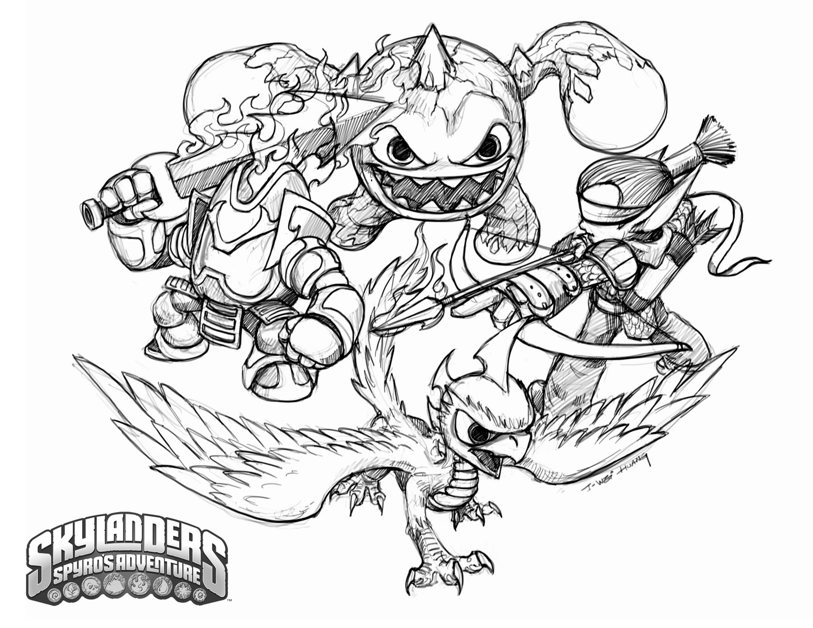 1600x1236 Coloring Skylanders Spyro Coloring Pages Collection