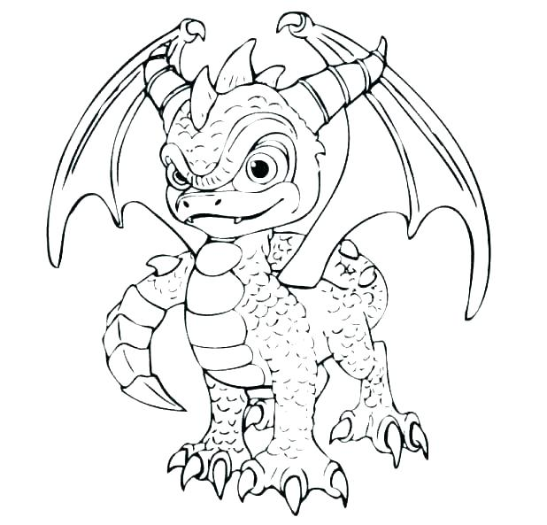 618x593 More Cartoons Super Fun Coloring Spyro Coloring Pages Free