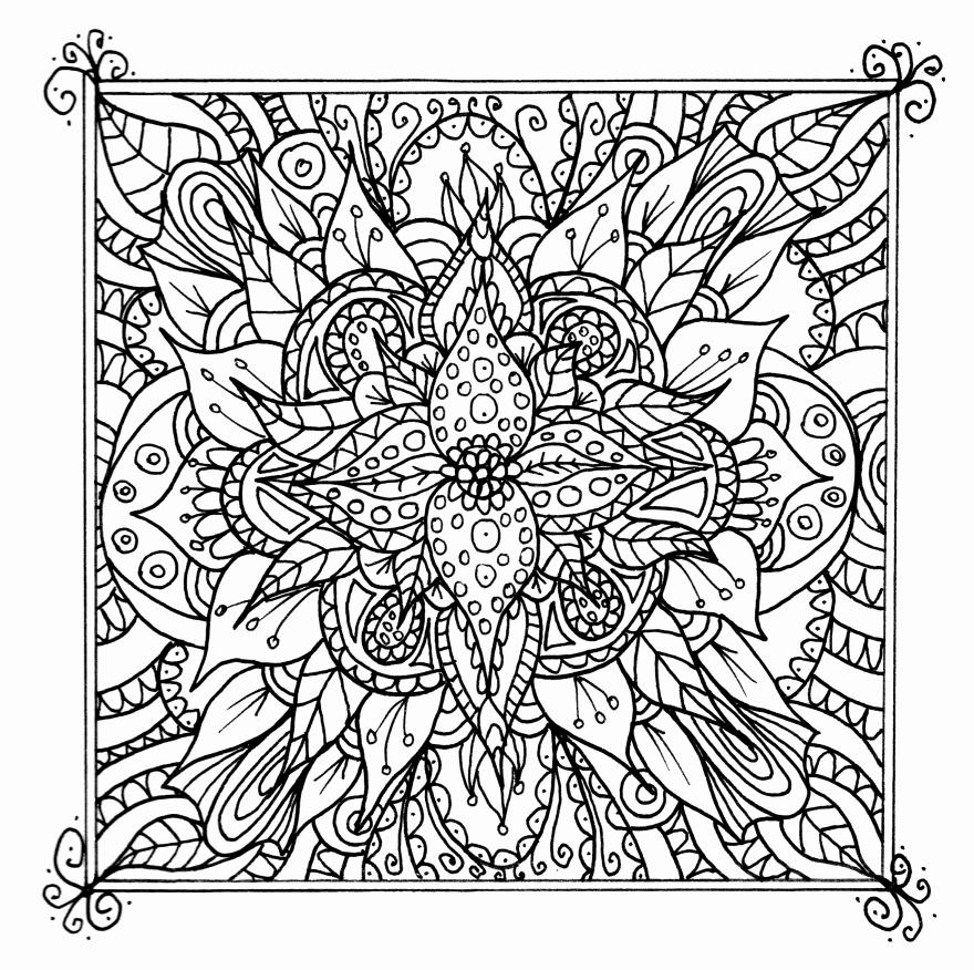 Square Mandala Coloring Pages at GetDrawings | Free download