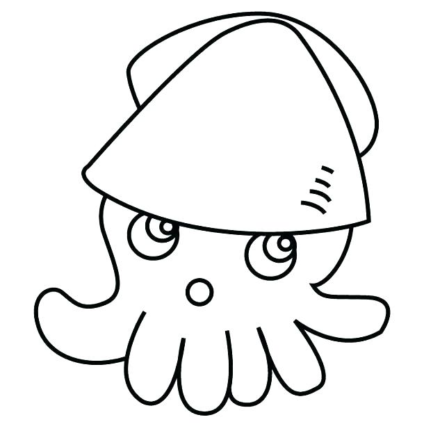 610x610 Coloring Page Squid Coloring Pages Image Result For Printable