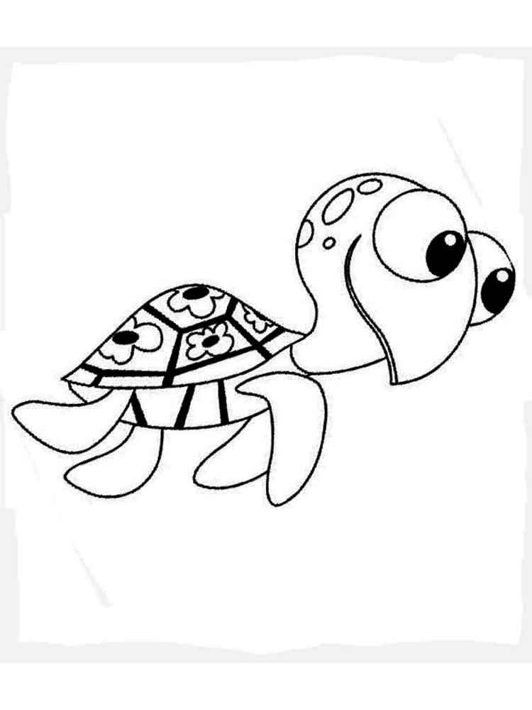 750x1000 Crush And Squirt Coloring Pages Free Printable Crush And Squirt