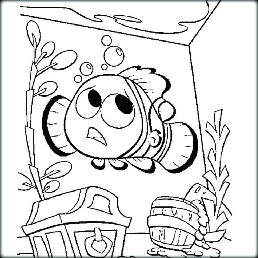 840x840 Finding Nemo Color Pages Finding Coloring Page Finding Coloring