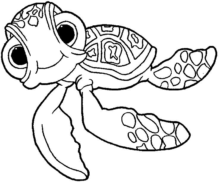 736x610 Finding Nemo Squirt Finding Nemo Coloring Pages