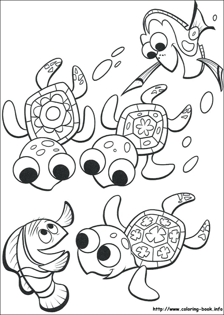 731x1024 Nemo Coloring Pages Coloring Pages Free Nemo Squirt Coloring Pages