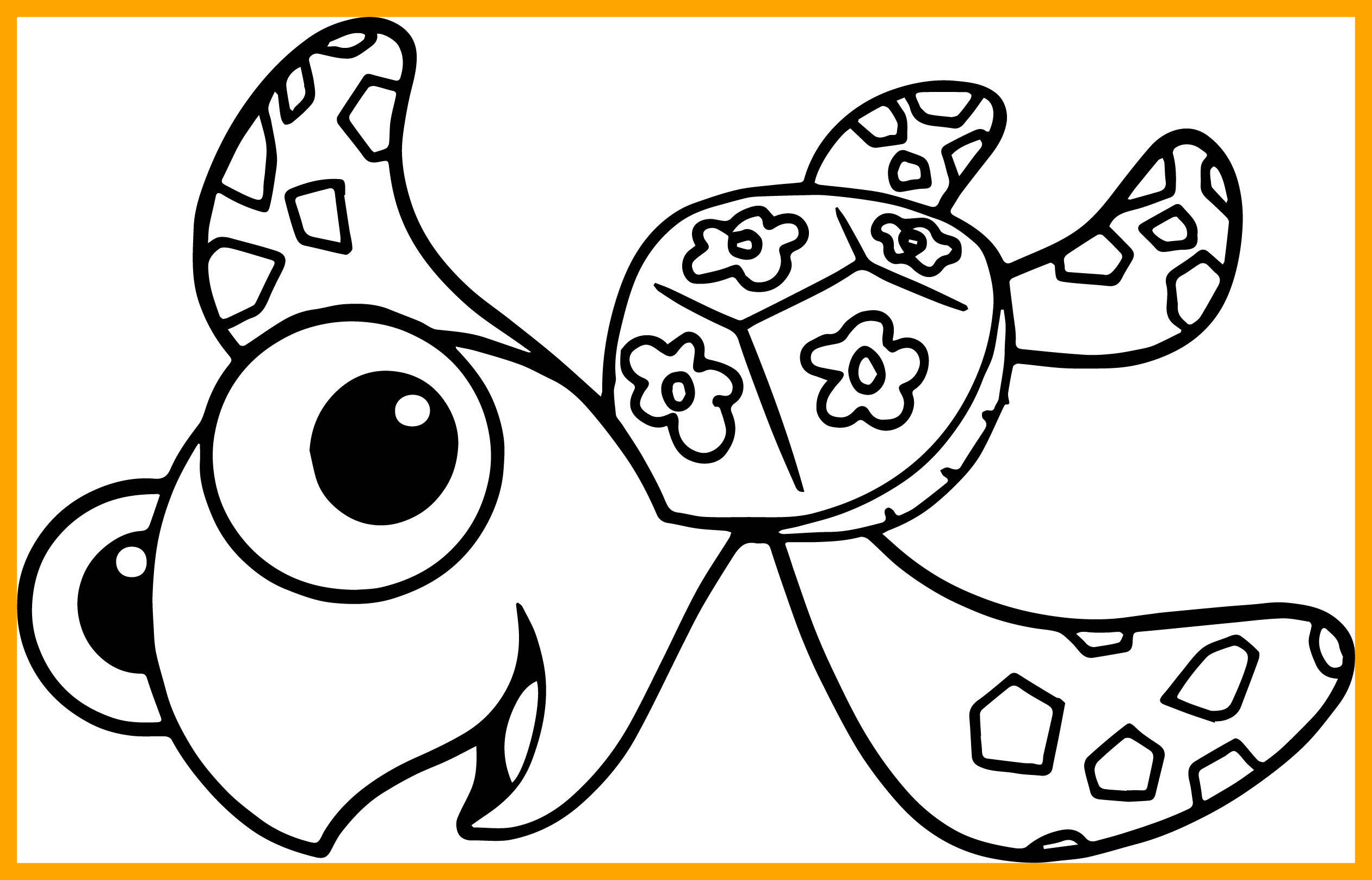 2522x1617 The Best Disney Finding Nemo Squirt Sea Turtle Coloring Pages