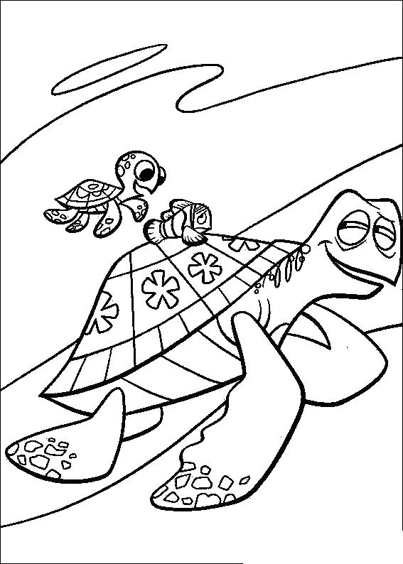 567x794 Coloring Pages Nemo Finding Coloring Page Finding Crush And Squirt