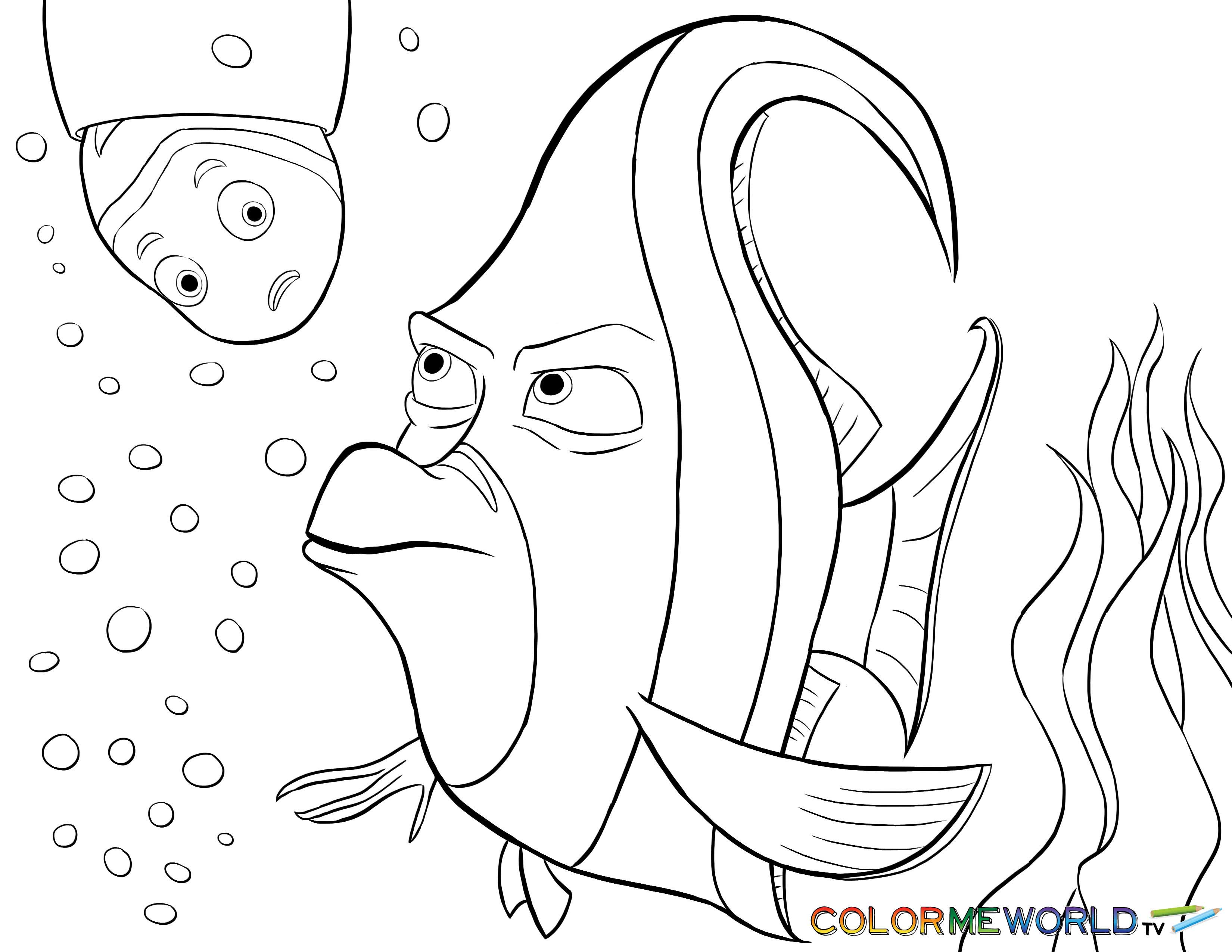 3300x2550 Finding Nemo Turtle Coloring Pages Page Image Clipart Images