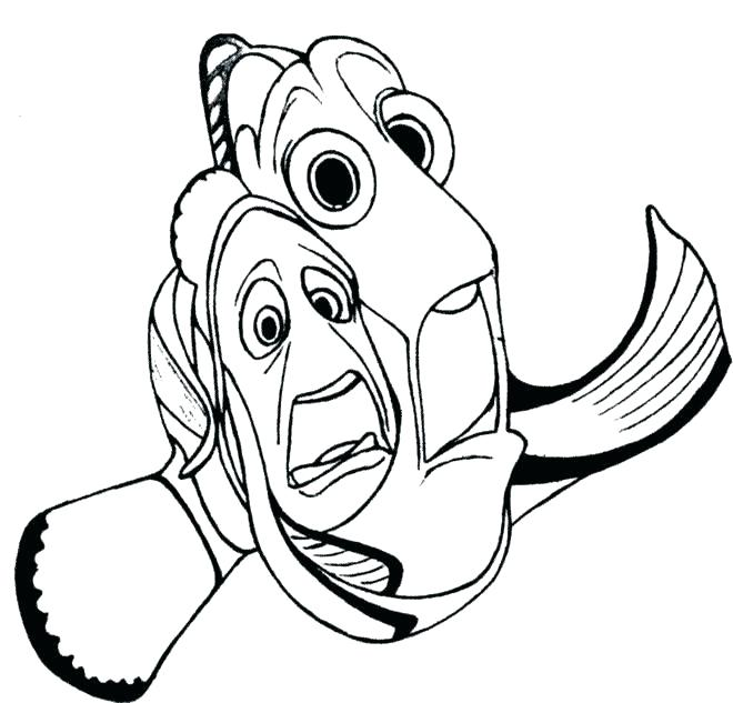 660x633 Nemo Coloring Pages Finding Color Pages Coloring Finding Nemo