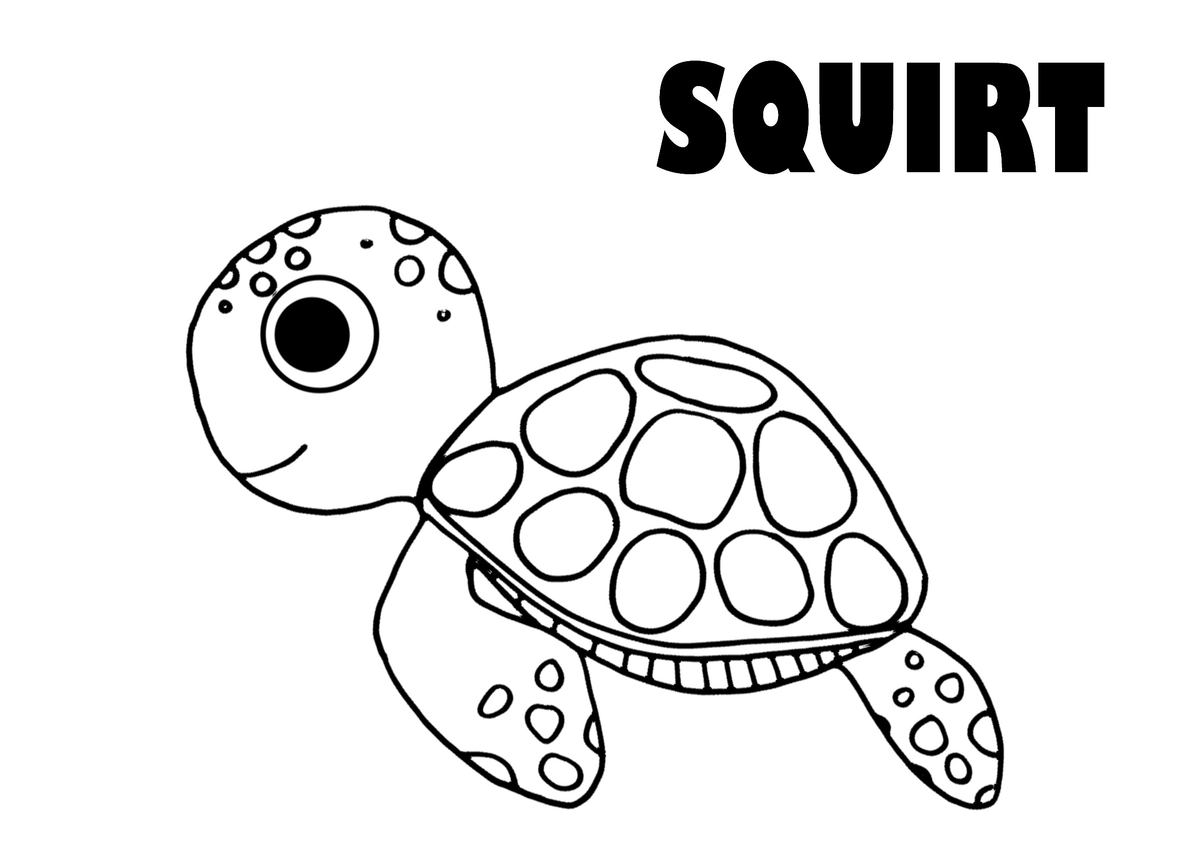 2339x1700 Squirt From Finding Nemo Coloring Page Into The Mind Of The Artist