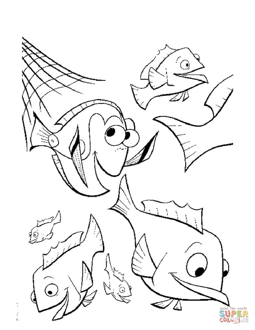 850x1100 Coloring Pages Nemo Fresh Squirt From Finding Page