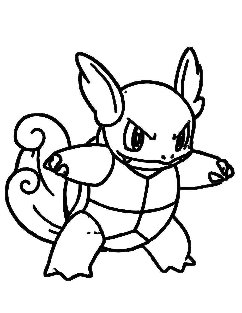 Squirtle Coloring Page At Getdrawings Com Free For Personal Use