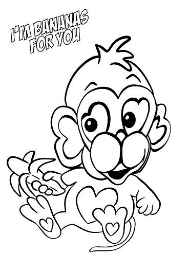 369x492 Crafty Ideas Printable Valentine Coloring Pages Stuffed Animal